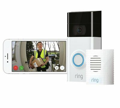 Ring Video Doorbell 2 With Chime, 1080HD Video 6 Months Free Cloud Rec