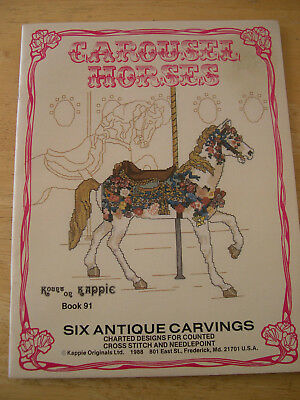 Carousel Horses Cross Stitch Patterns Kount on Kappie Book 91 6 Designs 32 pages