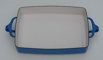 Dansk IHQ FRANCE Kobenstyle Blue Enamel Rectangular Baking Dish