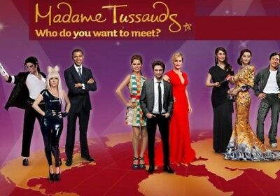 2 Tickets to MADAME TUSSAUDS, London on Thursday 7th February 2019 at 11:30am