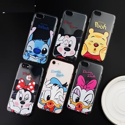 Disney Mickey Minnie Soft Clear Case Cover For Apple iPhone Xs Max Xr 7 8 6sPlus