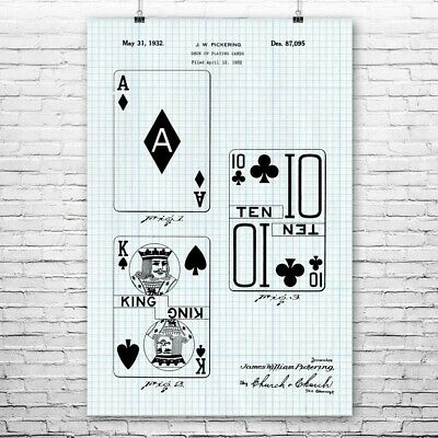 Playing Cards Poker Chip Ace on Fire Large Poster Art Print A0 A1 A2 A3 A4 Maxi