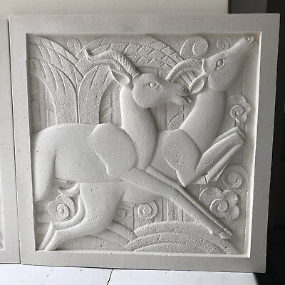 Art Deco Sculpted Plaque - Right Hand