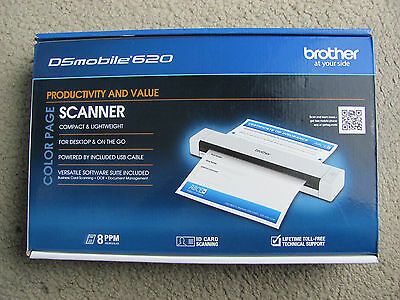 Brother Dsmobile 620 Portable Color Page Scanner Ds 620 Brand New