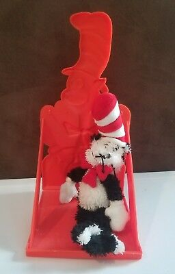 Dr Seuss Cat in the Hat 2001 plush and vintage book rack holder from the 80s