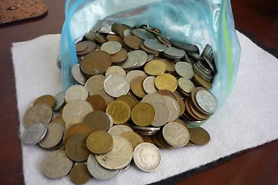 5 Pound Bag Foreign Coins Mixed Lot Good Variety