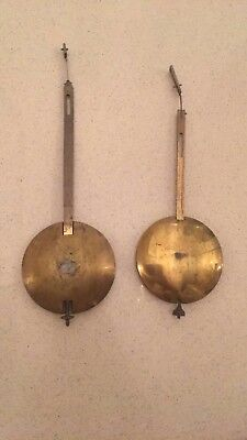 Two Antique Bracket Clock Fusee Pendulums