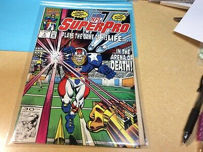 NFL SuperPro #4 . Marvel Comics Plays the Game of His Life Mint Near Mint