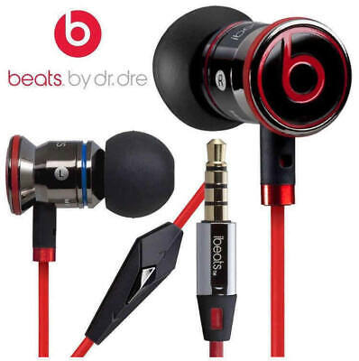 Genuine Monster iBeats by Dr Dre Headphones Earphone in Ear With Mic Red UK