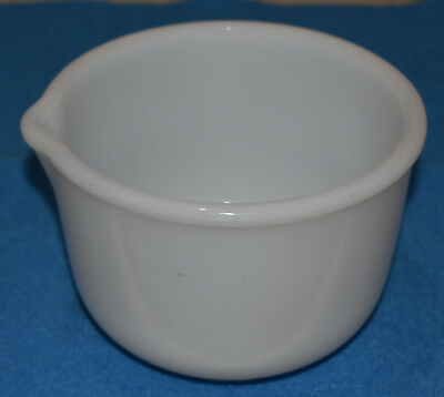 Vtg Glasbake Sm White Mixing Bowl Sunbeam MIXMASTER o Oster Kitchen Center MIXER