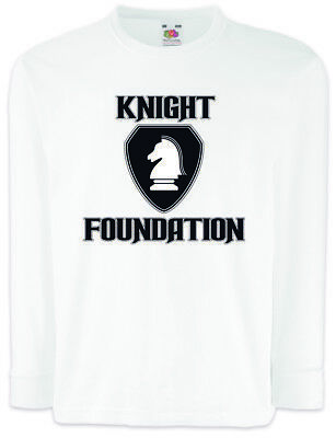 WHITE KNIGHT FOUNDATION LOGO Kinder Langarm T-Shirt Rider hasselhoff K.I.T.T.