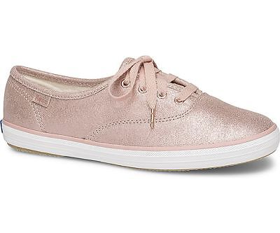 cdc18f5e550d0 KEDS WOMEN S CHAMPION Glitter Suede Lace-Up Sneaker Pink Pick A Size ...