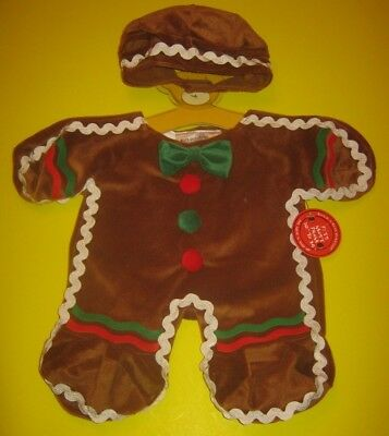 Build-A-Bear GINGERBREAD MAN Ginger Bread COSTUME OUTFIT