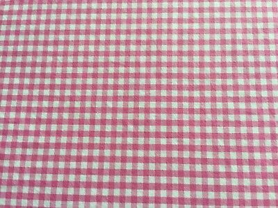 Pottery Barn Kids Bright Pink Gingham Check Duvet Cover Excellent