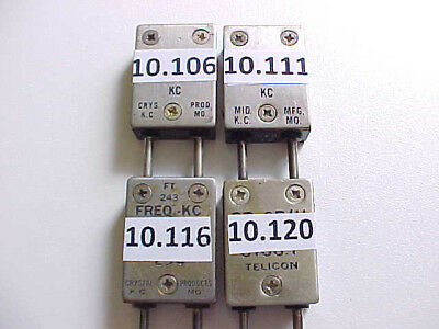4-Pack Ft-243 Qrp Modified Ham Radio Crystals 30 Meter Band