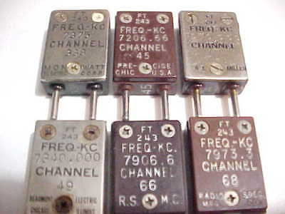 Lot Of 6 Ft-243 Style 7 Mhz Radio Crystals (Good Test On All)