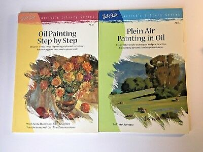 Walter Foster Art book Plein Air Oil Painting Step by Step Set of 2 Landscape
