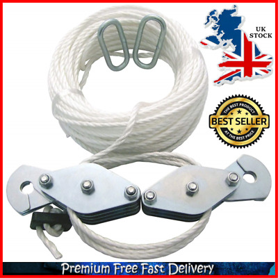 Cargo Lifting Pulley Set 3M 180KG Winch Hoist Rope Pulley Block Puller Kit Cable