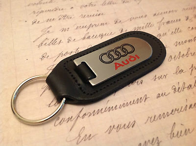 AUDI Key Ring Etched and infilled A 1 2 3 4 5 6 7 8 Q RS