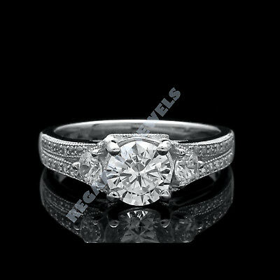 2ct Engagement Ring 14k White Gold Fn Jewelry For Women Solid Round Eternity New