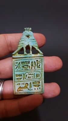 RARE ANCIENT EGYPTIAN ANTIQUE TALISMAN AMULET Hand Carved Stone EGYPT BC