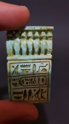 RARE ANCIENT EGYPTIAN ANTIQUE TALISMAN Snakes AMULET Hand Carved Stone EGYPT BC