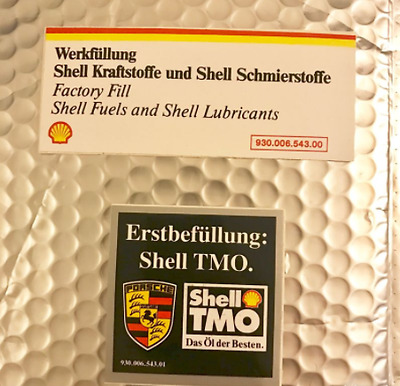 2 Autocollants Shell stickers porsche 3.2 911 1984 à 1989 Origine g50 type G 3l2