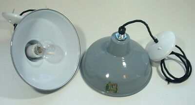"2 Benjamin 10"" Gray Porcelain Industrial VTG Barn UL Light Kitchen Island Grey"