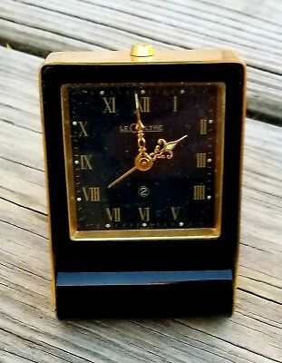 RARE, UNIQUE Vintage SWISS Travel Alarm Clock JAEGER LECOULTRE 2 Day's in BOX.