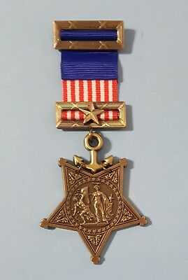 US  Navy Civil War 1862-1912 Navy Order of Medal Honor - WW2 Replica Award