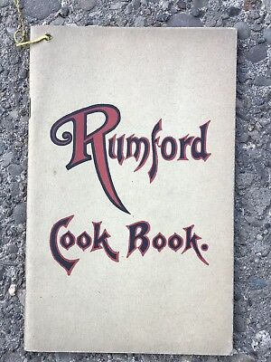 Vintage RUMFORD Fannie Farmer COOK BOOK RECIPES 50 Pages Soft Cover Cookbook