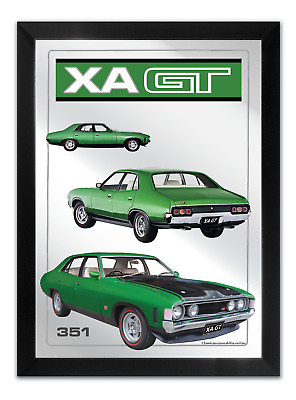 Bar Mirror-Picture-Artwork Suit Xa Gt Sedan Green Enthusiast A3 Size 450Mm X 350