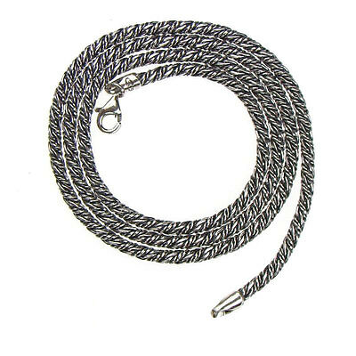 Gerochristo 3054 ~ Sterling Silver Antique Look Chain in various lengths
