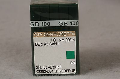 100 Qty Groz Beckert Industrial Embroidery Machine Needles Dbxk5 10 90/14