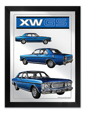 Bar Mirror-Picture-Artwork Suit Ford Xw Gs Enthusiast A3 Size 450 Mm X 350Mm