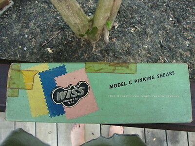 Vintage Wiss Model C Pinking Shears