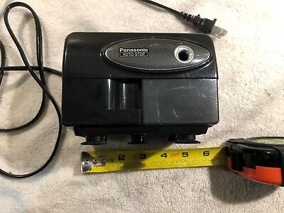Panasonic KP-310 Electric Pencil Sharpener Black W/ Suction Cup Feet-Tested