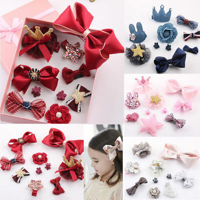 10PCS Baby Girl Princess Party Wedding Kids Toddler Hairpin Hair Clip Set US
