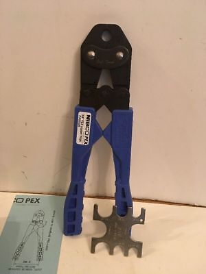 "Nibco Pex Crimp Tool 3/8"" for Copper Rings (Model PX02529) Blue  NEW IN BOX  3"