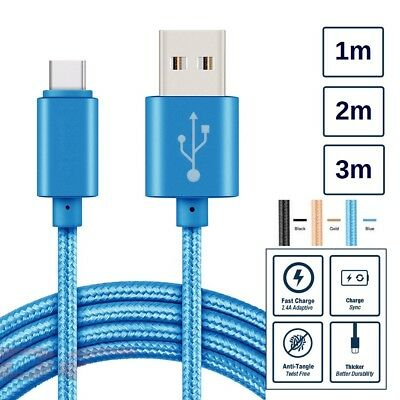 Heavyduty Braided Fast Phone Charge USB Type C Cable For HTC 1m 2m 3m