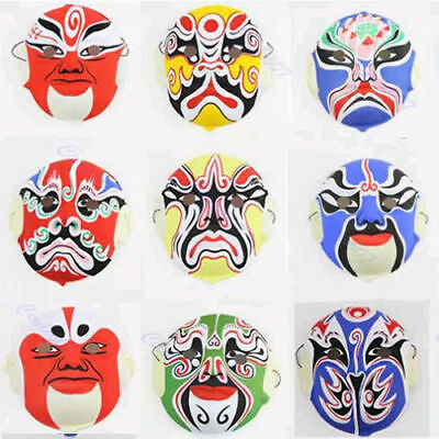 New Hand Painted Chinese Art Culture Paper Pulp Peking Opera Style Mask Festiva