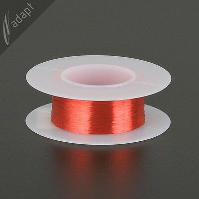39 AWG Gauge Magnet Wire Red 1600' 155C Solderable Enameled Copper Coil Winding