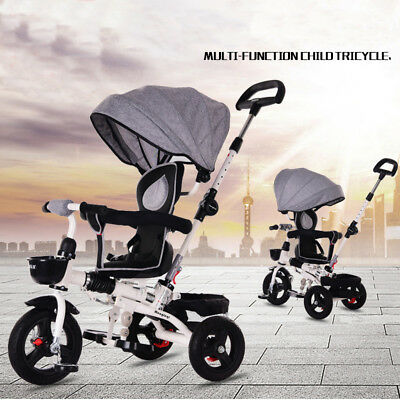 6 in1 Reverse Baby Kids Toddler Tricycle Bike Trike Ride-On Toys Stroller Prams