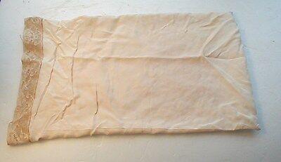 Antique/vtg Silk Baby /doll Pillowcase W/ Lace And Free Wrinkles Carriage Buggy