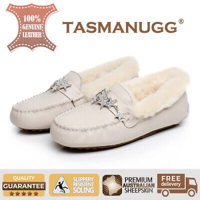 Tasman UGG - Star moccasin,Pure wool lining and insole,Water-resistant,Beige CL