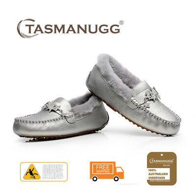 Tasman UGG - Star moccasin,Pure wool lining and insole,Water-resistant,Grey CL