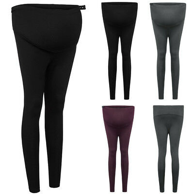 Pregnant Women Maternity Warm Pregnancy Leggings Support Belly Pants Trousers