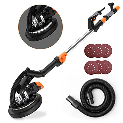 【New Year's Gift】 Tacklife Dustless Drywall Sander, 9-Inch 6A/1800Rpm Electric