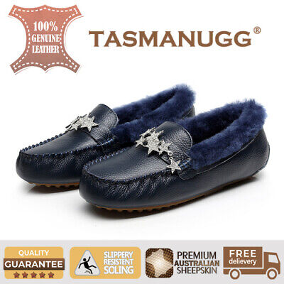 Tasman UGG - Star moccasin,Pure wool lining and insole,Water-resistant,Navy CL