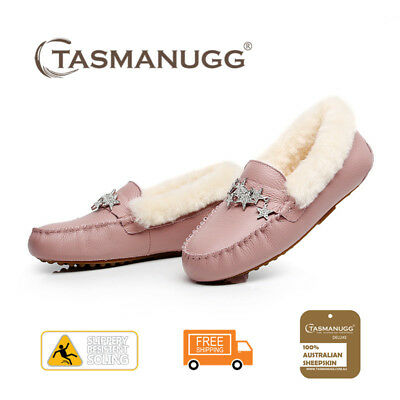 Tasman UGG - Star moccasin,Pure wool lining and insole,Water-resistant,Pink CL